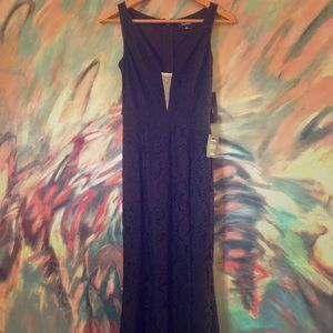 Everly Black Lace Maxi Dress